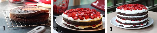 ricetta torta al cioccolato e fragole