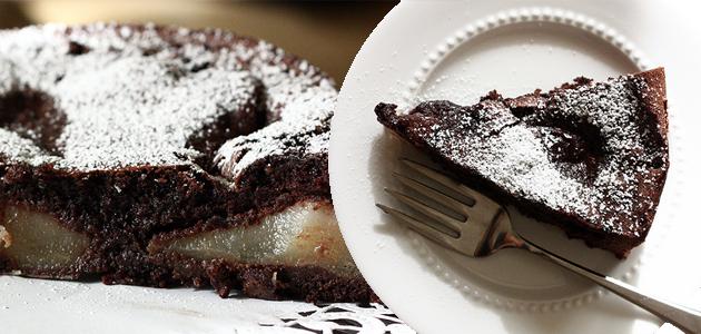 torta al cioccolato e pere